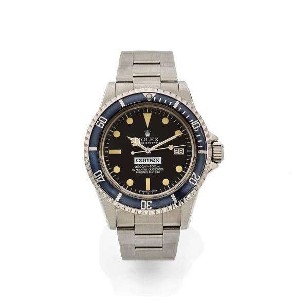 Vente d'Horlogerie du 18 juillet, lot 393 : ROLEX The Ultimate Comex, ref. 1665, n° 6193052, vers 1980. Adjugé frais inclus : 139 400 €